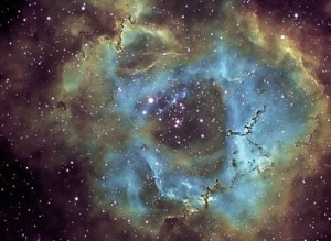 Rosette Narrowband Hubble Pallete2